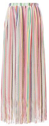 Missoni Mare Fringed Striped Maxi Skirt - Multi