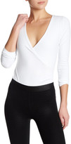 David Lerner Long Sleeve Surplice Neck Bodysuit