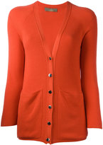 Cruciani ribbed V-neck cardigan - women - Viscose/Cashmere - 38