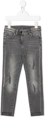 Stella Mccartney Kids TEEN distressed skinny jeans
