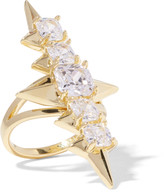 Noir Mirach gold-tone crystal ring