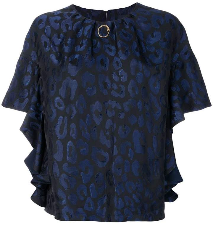 Class Roberto Cavalli gathered leopard blouse
