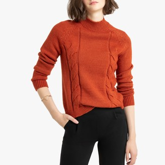 La Redoute Collections Chunky Cable Knit Jumper with High-Neck