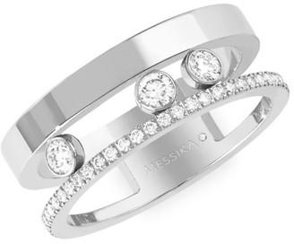 Messika Move Romane Diamond & 18K White Gold Ring