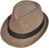 Simplicity Men Women Fashion Pinstripe Band Fedora Formal Hat