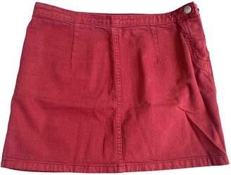 A.P.C. Burgundy Cotton Skirts