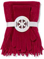 New York & Co. 2-Piece Embellished Scarf & Gloves Set