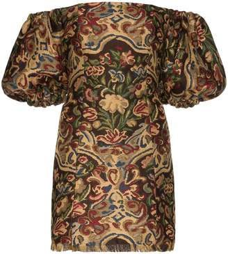 Etro tapestry embroidered mini dress