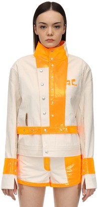 Courreges Contrasting Cotton & Vinyl Jacket