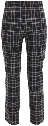 Bailey 44 Jameson Cropped Checked Stretch-cotton Slim-leg Pants
