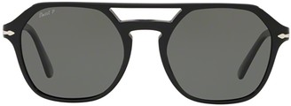 Persol Polarised Aviator Frame Sunglasses