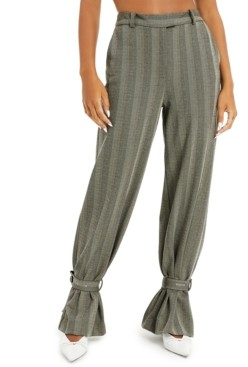 Danielle Bernstein Herringbone Striped Pants, Created for Macy's