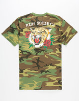 Riot Society Camo Tiger Mens T-Shirt
