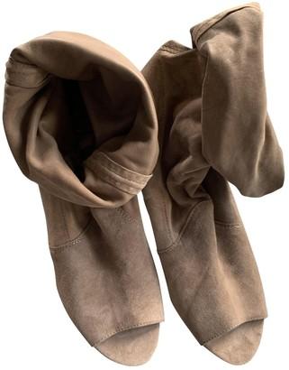 Diane von Furstenberg Beige Suede Ankle boots