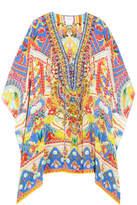 Camilla Embellished Silk Crepe De Chine Kaftan - Yellow