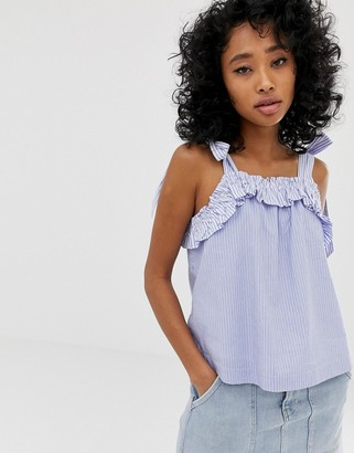 Pepe Jeans Miley frill singlet top