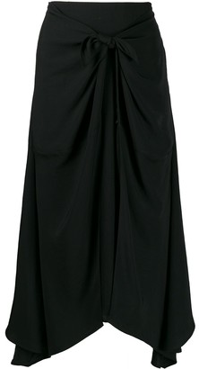 Vince Twist-Detail Asymmetric Skirt