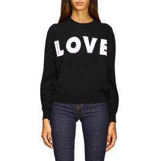 Love Moschino Sweater Long-sleeved Shirt With Maxi Logo