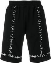 Kokon To Zai Pin embroidered track shorts