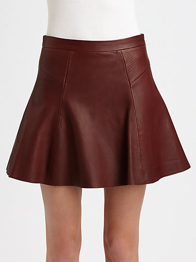 A.L.C. Reese Leather Mini Skirt