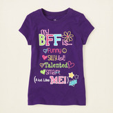 Children's Place B.f.f. list graphic tee