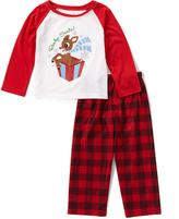 Rashti & Rashti Red Plaid 'Ready Santa!' Pajama Set - Girls