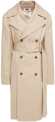 MM6 MAISON MARGIELA Double-breasted Cotton-twill Trench Coat