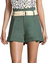 Sea Poppy High-Waisted Belted Camper Shorts