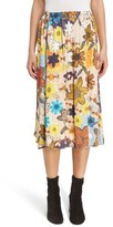 Acne Studios Women's Sabina Floral Print Midi Skirt