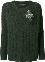 Ermanno Scervino embellished brooch jumper