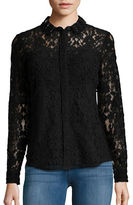 Elie Tahari Beaded Collar Lace Blouse