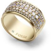 Fossil Vintage Glitz Crystal Ring