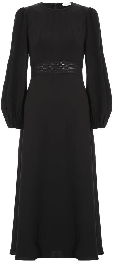 Zimmermann Crepe Lattice Midi Dress