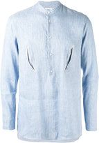 Umit Benan striped embroidered shirt - men - Linen/Flax/Modal - 46