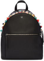 Fendi Black Studded Rainbow Backpack