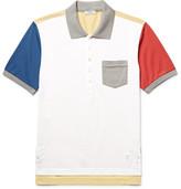 Thom Browne Colour-Block Cotton-Piqué Polo Shirt