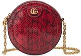 Gucci Ophidia snakeskin mini round shoulder bag