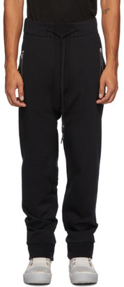 11 By Boris Bidjan Saberi Black Jersey Lounge Pants