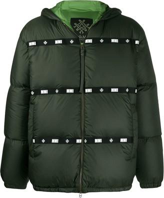 Mr & Mrs Italy logo strip padded jacket