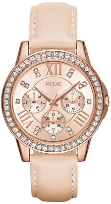 Fossil RELIC BY Relic By Womens Multi-Function Leather Bracelet Watch-Zr15907