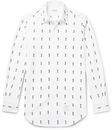 Thom Browne - Button-down Collar Embroidered Cotton Oxford Shirt