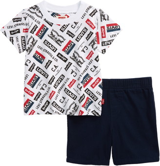 Levi's Logo Graphic Tee & Shorts Set