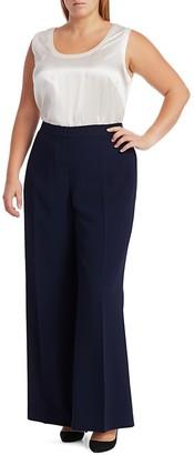 Lafayette 148 New York, Plus Size Dalton Wide-Leg Wool Pants