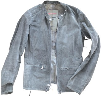 Prada Grey Suede Leather jackets