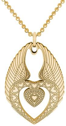 Cartergore Medium Gold Winged Heart Pendant Necklace