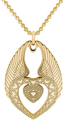 Cartergore Small Gold Winged Heart Necklace
