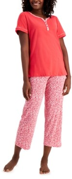 Charter Club Women's Cotton Capri Pajama Set, Created for Macy's