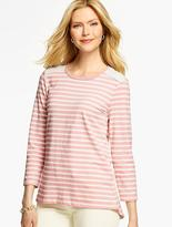 Talbots Lace & Stripes Tee