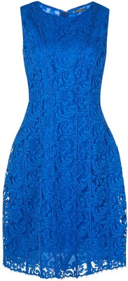 Adam Lippes Seamed flare lace dress