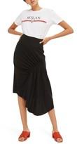 Topshop Women's Ruched Drape Midi Skirt